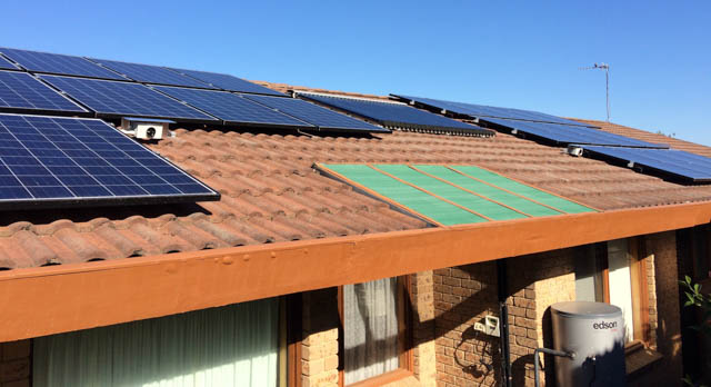 Jim and Jess's solar panels.