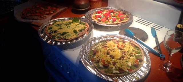 Our famous Earth Day Pizzas!