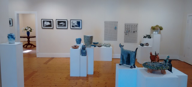 Some of the exhibitors at the 'Celebrating Clay' exhibition last week.
