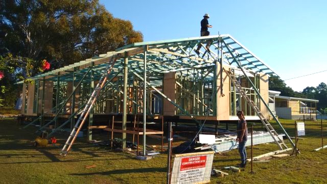 Trusses are fantastic pieces of structural elegance. Incredibly light, strong and easy to install.