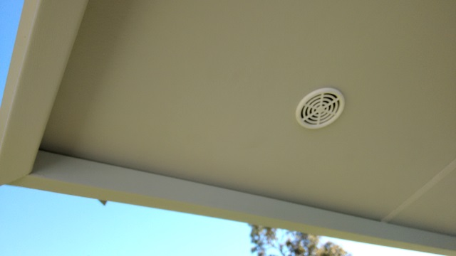 We'll have vents like these every 1200mm for the length of our eaves.
