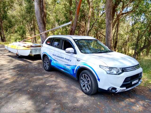 Our Plug-in Hybrid Electric Vehicle loaded up and ready for adventure.