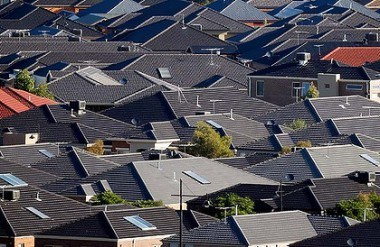 A sea of dark tile roofs is a common site in Australian subdivisions. (Source: The Fifth Estate)
