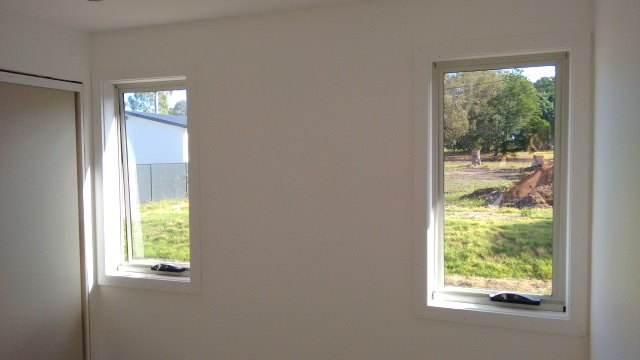 Today we started installing architraves around the windows.