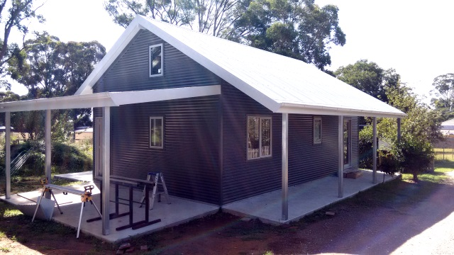 The carport on the west and the big verandah on the south will provide lots of summer shade and shelter from the rain.