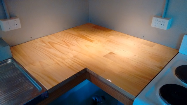 One of our counter pieces made from finger-jointed, FSC-certified pine.