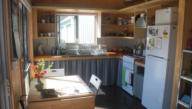 Our original, temporary kitchen