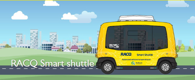 The driverless RACQ Smart Shuttle... coming to an island near us.