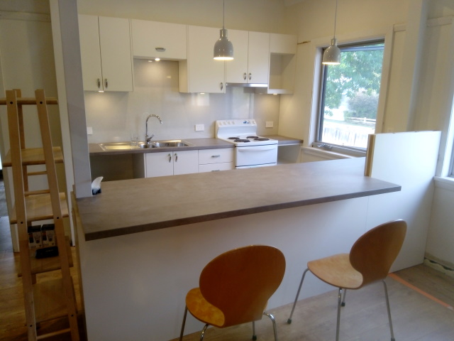 The new kitchen almost completed