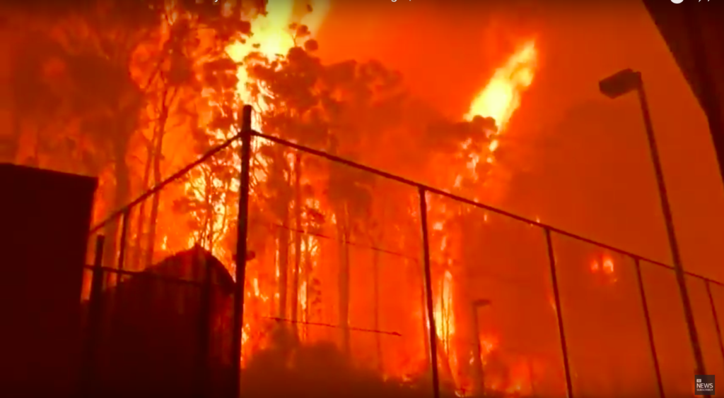 Fire strikes near Rosedale Beach