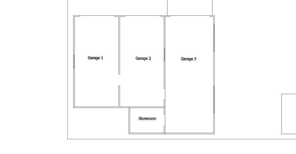 The existing floor plan