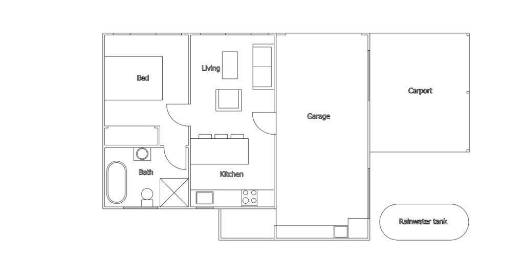 The proposed floor plan