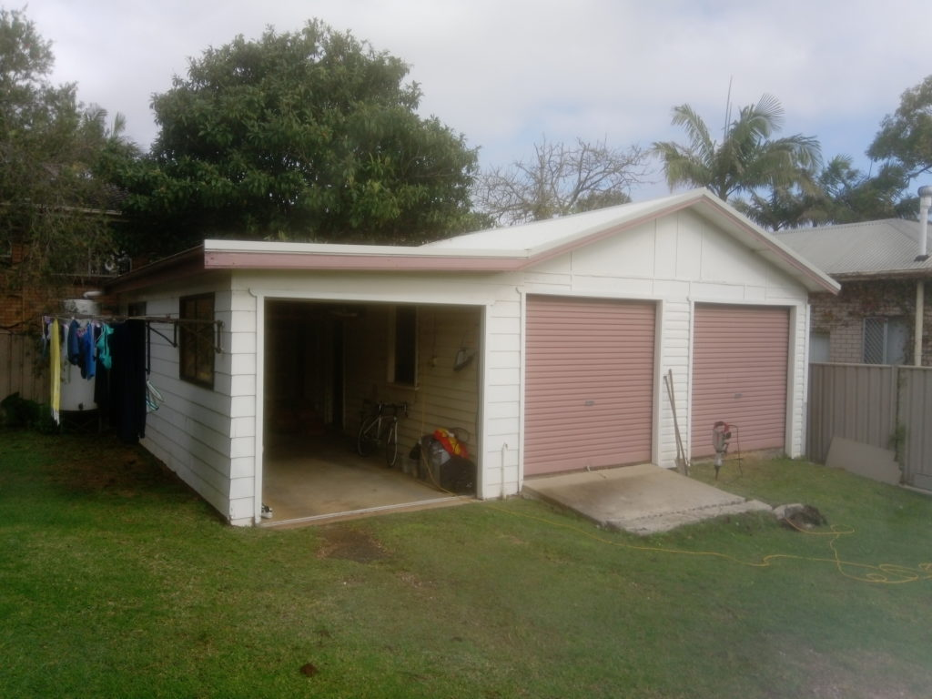 The garage in Port Macquarie that I will be converting to a granny flat over the next couple of months.