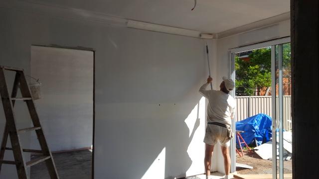 Painting starts.