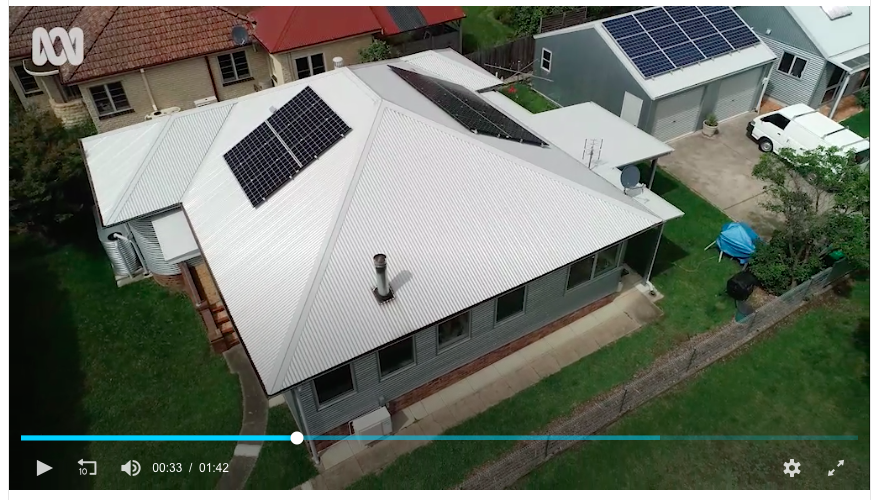 Our fibro cottage energy retrofit as seen from Justin's drone.