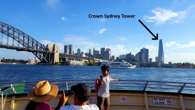 Crown Sydney Casino and Hotel as seen from Luna Park