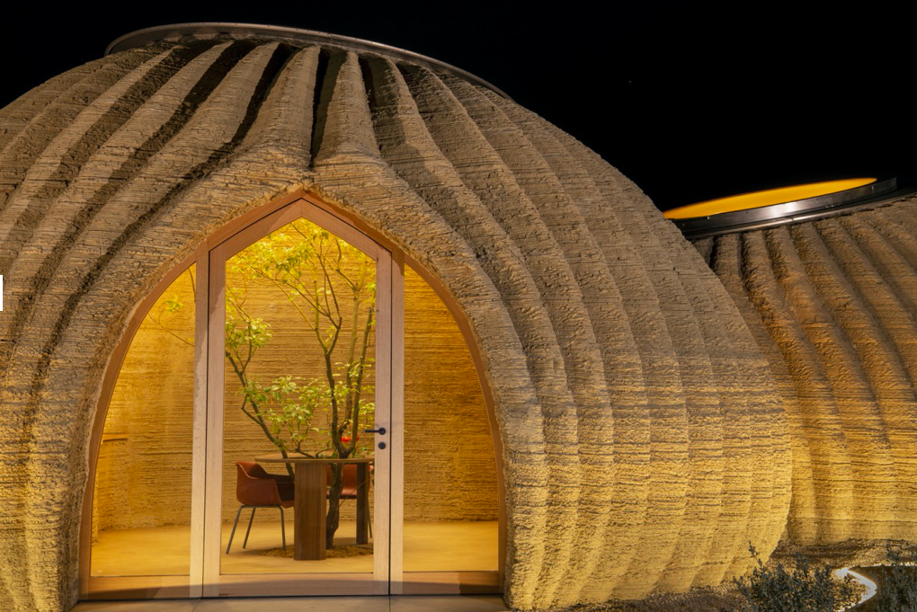 The organic forms of the Tecla 3D-Printed Eco-home (Source: New Atlas)