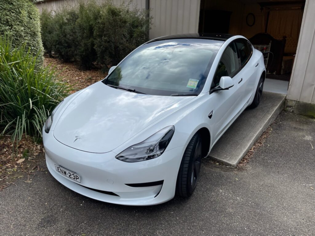 Noel's new Tesla Model 3
